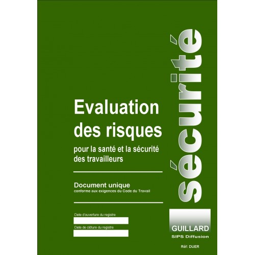 Document unique EVALUATION des RISQUES PROFESSIONNELS